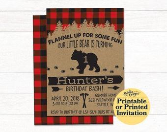 Lumberjack Birthday Invitation, Lumberjack Boy Party, Lumberjack Party Invitations, Wilderness Explorer, Camping Birthday, Brush Calligraphy