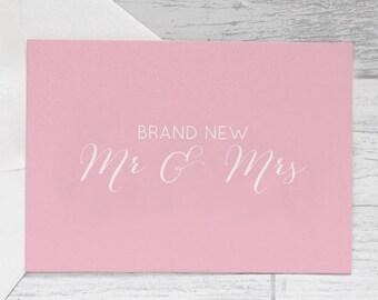 S A L E - Wedding Card - Brand New Mr & Mrs Wedding Greeting Card