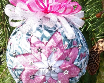 Pink and Teal Ornament