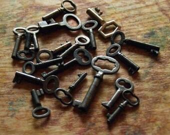 Fifteen Antique Keys - Custom Picked Antique Keys