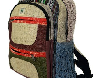 Handmade Hemp & cotton Backpack Type- 6