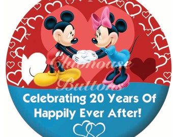 Custom Mickey and Minnie Anniversary button