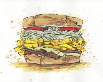 Primanti Brothers Sandwich Print 8x10inches
