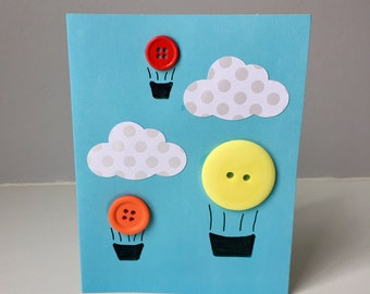 Hot Air Balloon Button Cards