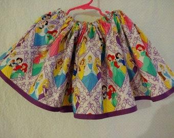 Girls Disney Princess Purple skirt with Elastic Waist size small (4 yr old)