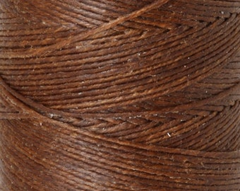 Tools & Supplies-3-Ply Irish Linen Cord-Waxed-Walnut Brown-Crawford Threads-Quantity 120 Yards