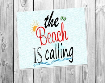 The Beach is Calling SVG file, Cutting File, Svg vector summer