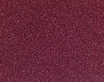 "Burgundy Crepe Fabric - 60"", By The Yard"
