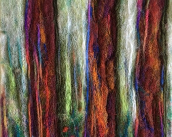 Original Needle felted trees, handmade home decoration of wool painting.