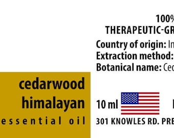 Cedarwood Himalayan 100% Pure Essential Oil from India 10ml