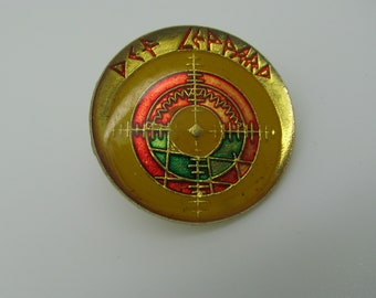 Awesome 80's Def Leppard Pin, Def Leppard Tour, Jacket Pin, Joe Elliot, Def Leppard Fan Pin, Rare Pin