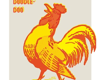 Retro Kitchen, Rooster Print, Chicken Decor, Kitchen Wall Art, Chicken Coop Decor