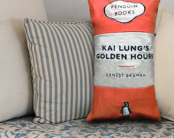 Hand Embroidered Penguin Books Cushion