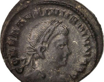 constantine ii follis london au(55-58) bronze ric292