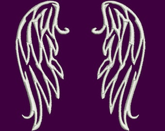 Angel wings machine embroidery design Instant Download
