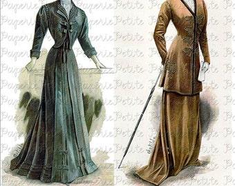 Victorian Women of Fashion Digital Download Collage Sheet C