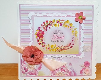 To My Fabulous Friend Birthday Handmade Card