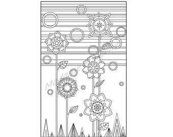 Dandelion Coloring Page- PDF Instant Download