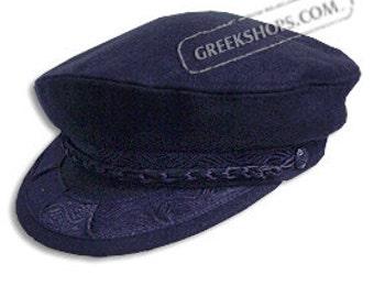 Greek Fisherman's Hat - Wool - Navy