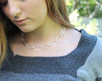 """Silver Choker 999 Fine Silver 15"""" Necklace"""