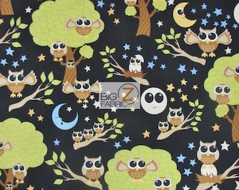 "100% Cotton Fabric By Dan Morris For RJR Fabrics - Kitschy Kawaii Black - 45"" Wide By The Yard (FH-1471)"