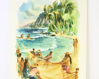 Louis Macouillard Hawaii Matson Cruise Ship Menu