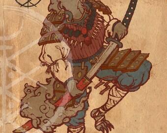 Ōkami Senshi - High Quality Digital Print