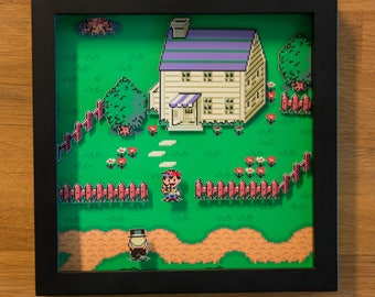 Earthbound Shadowbox - Say Fuzzy Pickles!