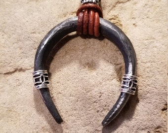 hand forged 3/4 loop neckles