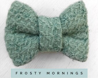 Frosty Morning Mint Green Dog Bow Tie
