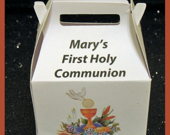 First Communion Girl Party Supplies, First Communion Girl Favor Boxes, First Communion Girl Decorations
