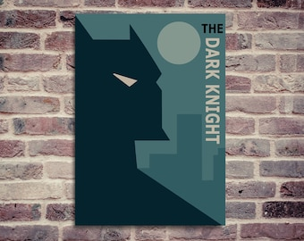 Batman poster. The dark Knight poster. Minimalist Batman poster.
