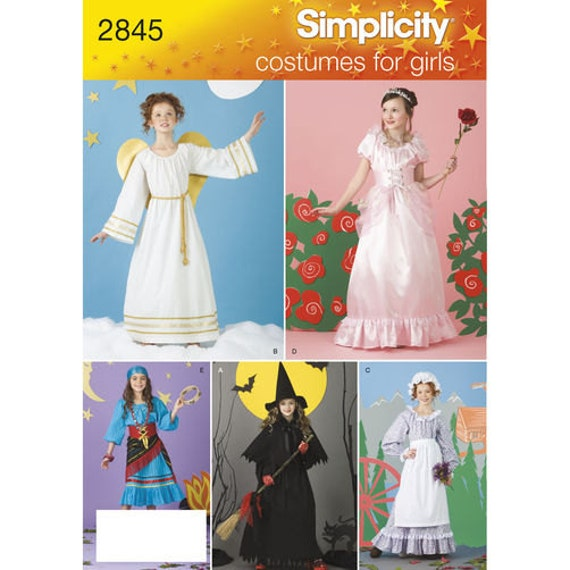 Sewing Pattern for Girls Costume,Size 2 to 12 , Simplicity Pattern ...