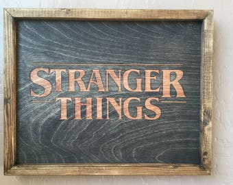 Stranger Things Wooden Inlay Wall Art