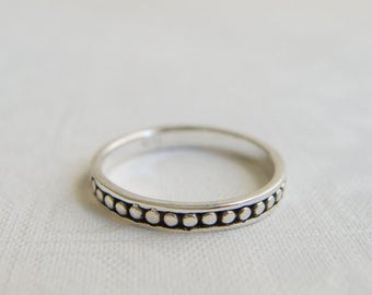 Dot Ring, Sterling Silver Dot Ring, Circle Ring, Stacking Ring, Silver Rings For Women, Sundance Style Ring, Minimalist Jewelry, Pinky Ring
