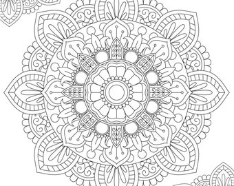 Mandala Coloring Page - Printable Coloring Pages - 02