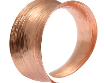 Bark Copper Bangle Bracelet, Wide Copper Bangles, Rose Gold Bangles, Statement Bangles, Copper Bracelets, 7th Anniversary Gift, John S Brana