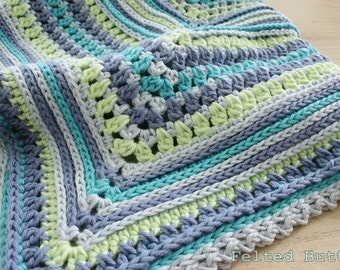 Blanket Crochet Pattern, Breath of Heaven, Baby, Girl, Boy