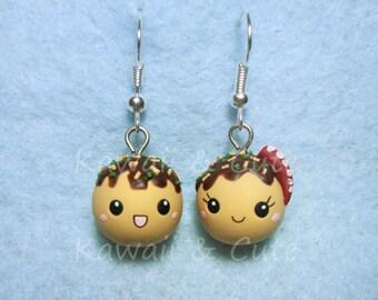 Earrings Takoyaki Kawaii