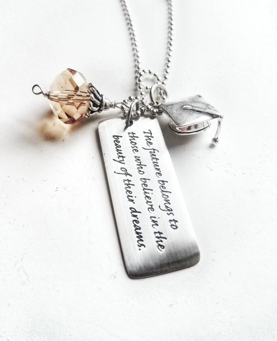 goods uncommongoods quote for our inspirational jewelry gifts the favorite graduation of globe necklace glass luck