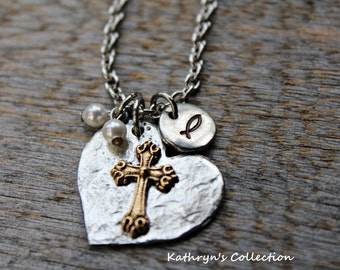 Cross Necklace, Religious Jewelry, Religious Necklace