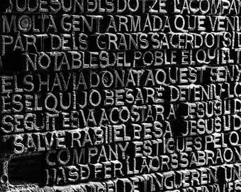 Sagrada Familia - Barcelona - Wall Art - Fine Art Photography - Minimalist - Wall Art - Black and White - Holy Doors - 0071