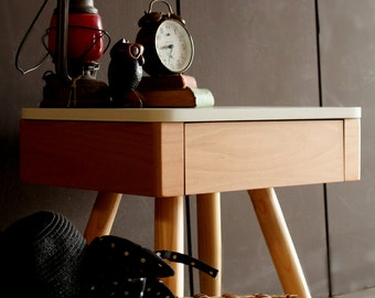 Nightstand/ Bedside Table/ Custom Made/ Handmade/ Scandinavian/ Mid Century Design