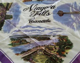 Vintage Niagara Falls Souvenir Scarf