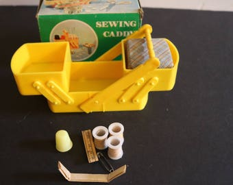 Vintage New Yellow Sewing Caddy
