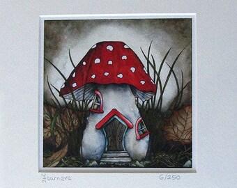 In Sleepy Oaks Woods... limited edition giclee print, 8x8, fae, fairy, fantasy art