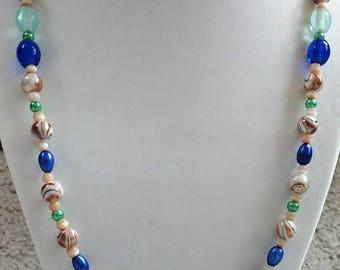 World Of Brown Swirls Necklace