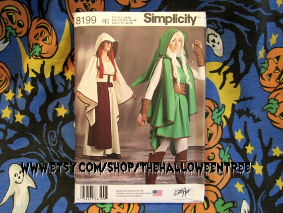 Simplicity 8199 Zelda Link Costume sewing pattern sizes Medium