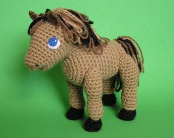 PDF Crochet Pattern LITTLE HORSE (English only)