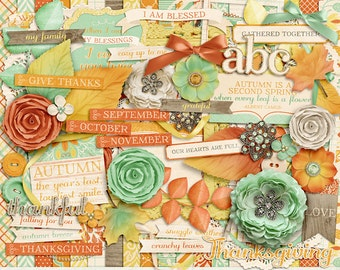 Autumnal Aura Digital Scrapbook Kit - INSTANT DOWNLOAD